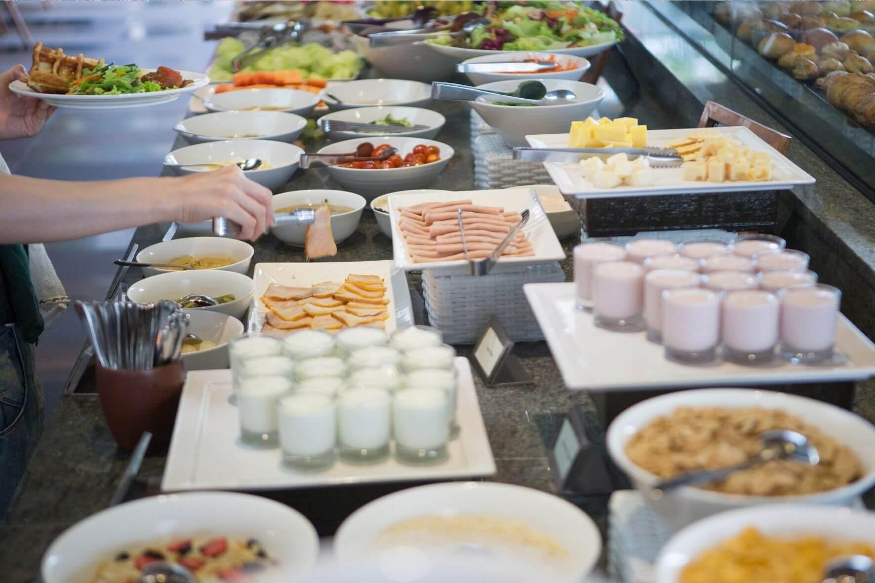Frühstücks-Buffet Abreise